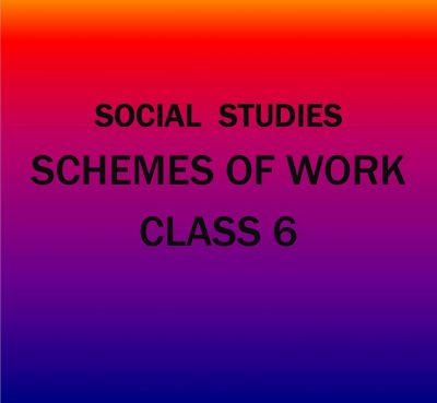 Class 6-KLB Social Studies-Schemes of work