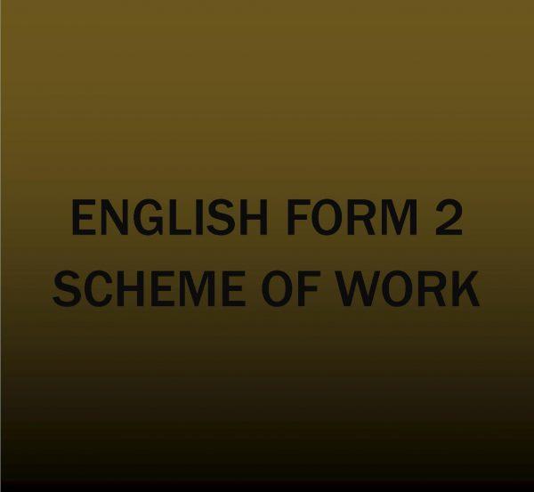 Form 2 - English- Scheme of work.