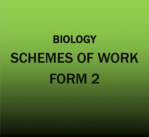 Form 2-Biology-Scheme of work