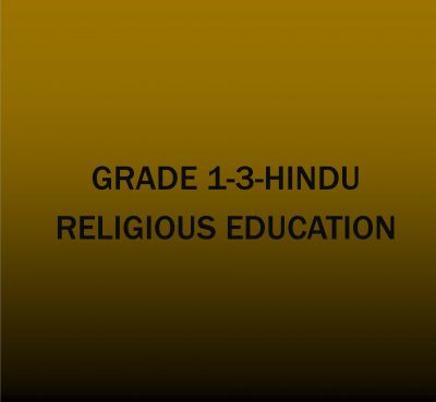 Grade 1-3-Hindu Activities.