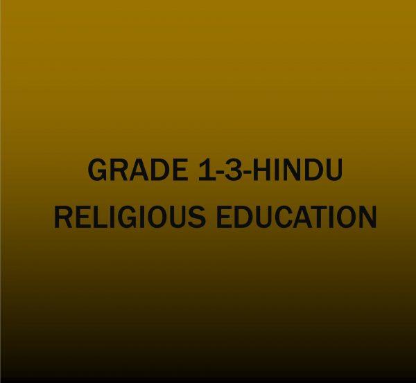 Grade 1-3-Hindu Activities.