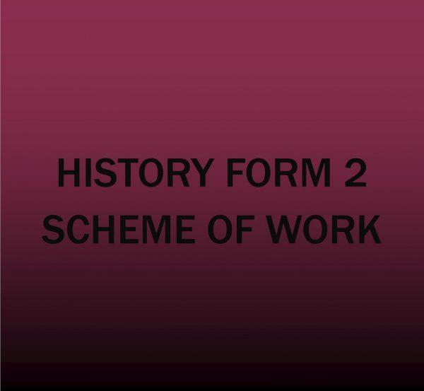 Form 2-History-Scheme of work