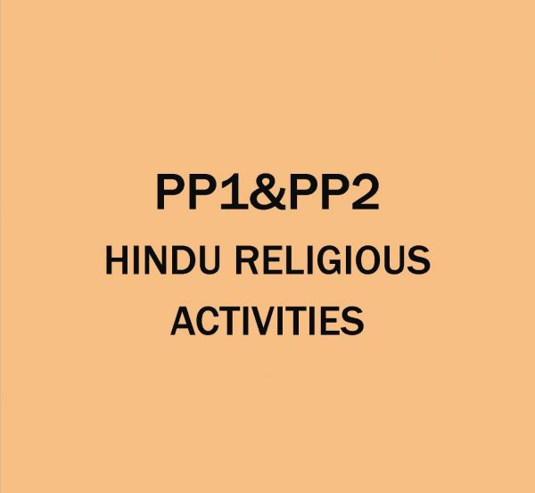 Pre-Primary 1&2-Hindu Religion Activities.