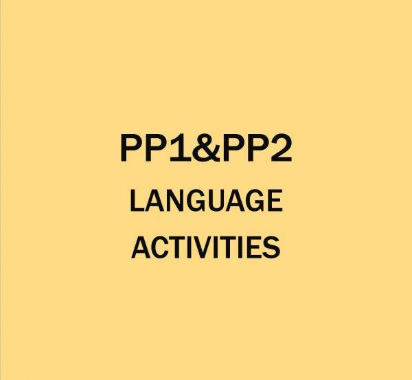 Pre-Primary 1&2-Language Activities.