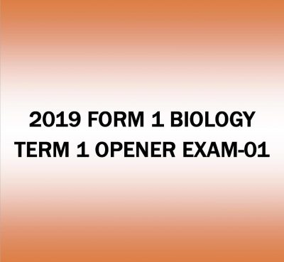 2019 FORM 1- BIOLOGY TERM 1-OPENER EXAM-01