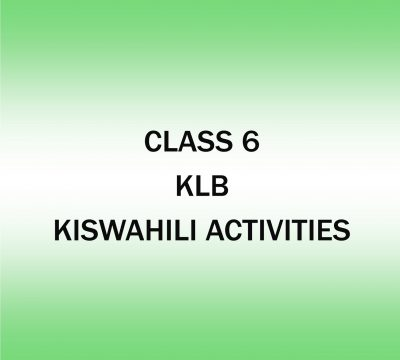 Kiswahili Activities