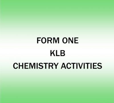 Chemistry Activities
